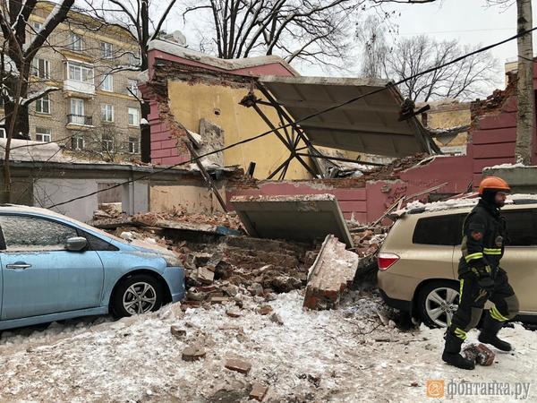 В комплексе «Ярославских бань» обрушилась крыша одного из зданий