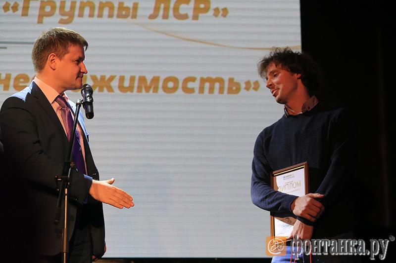 директор информполитики «Группы ЛСР» Александр Зильберт и Николай Кудин