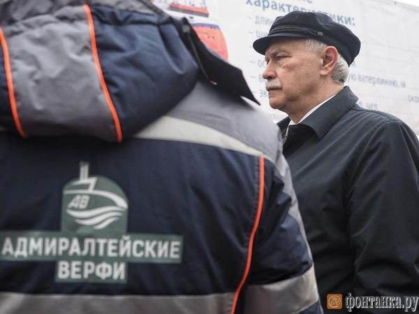 На «Адмиралтейских верфях» заложили первую в мире дрейфующую платформу «Северный полюс». Приехал Полтавченко