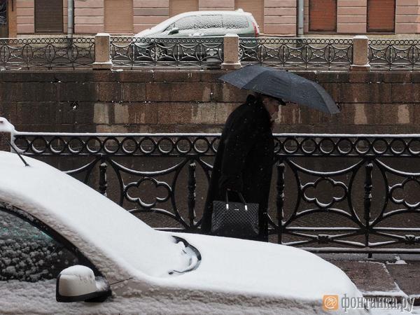 В Петербург вернулась зима