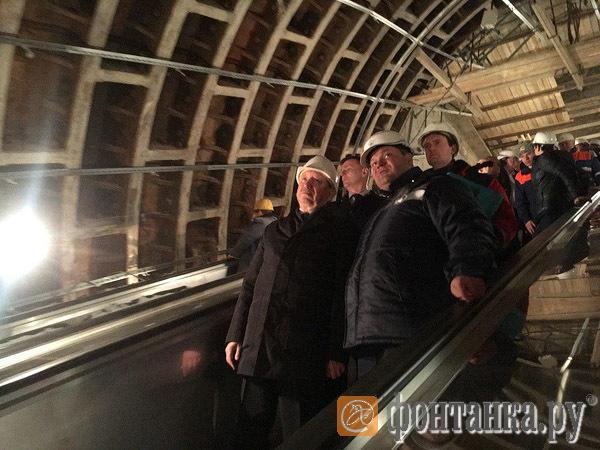 Как Беглов ободрил строителей петербургской подземки