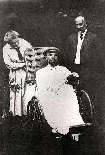 Больной Ленин в Горках, 1923 год