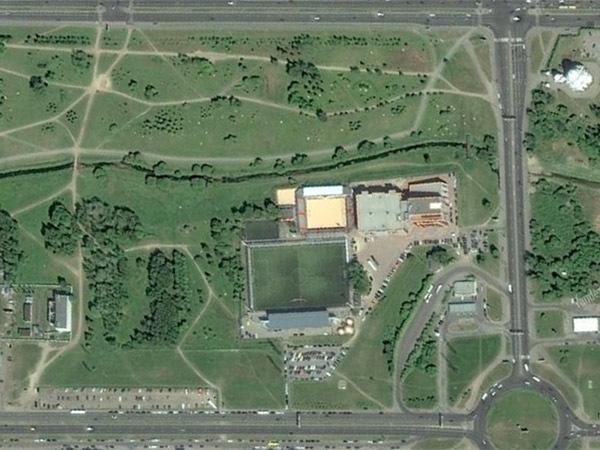 Часть Муринского парка с Nova Arena/скриншот сервиса Яндекс.Карты