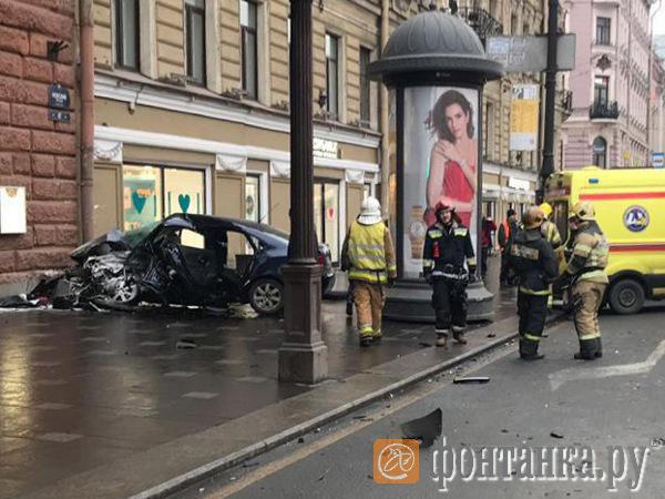 ДТП на Невском проспекте 30 марта 2019 года