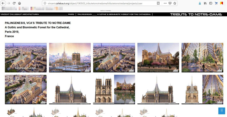 Скриншот с сайта vincent.callebaut.org