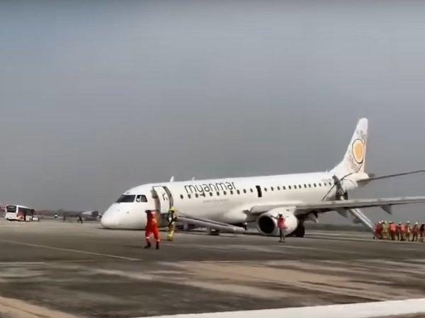 Высекая искры из ВПП. Аварийная посадка пассажирского самолёта без шасси попала на видео