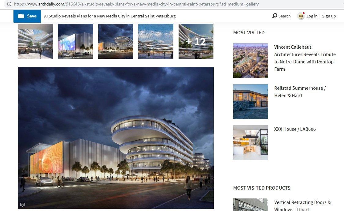 Скриншот с сайта archdaily.com