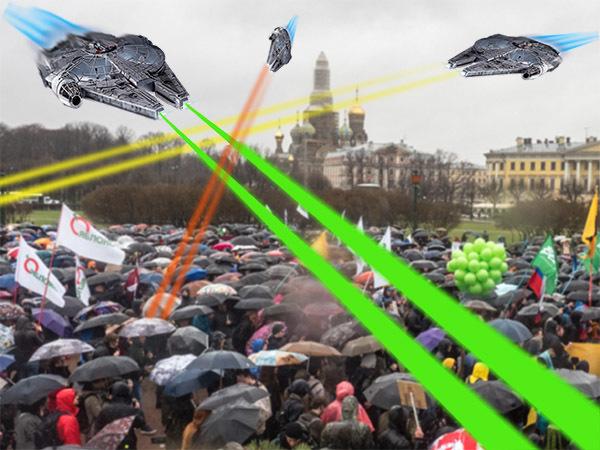Вспышка с неба. В Петербурге для силовиков делают дрон-парализатор с электрошокером и лазером