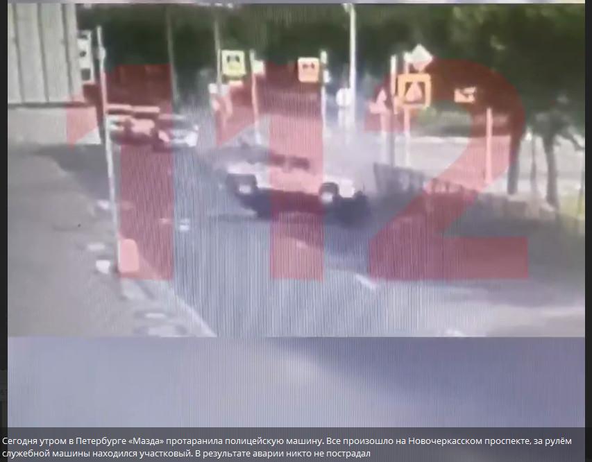 Скриншот видео с телеграм-канала «112»