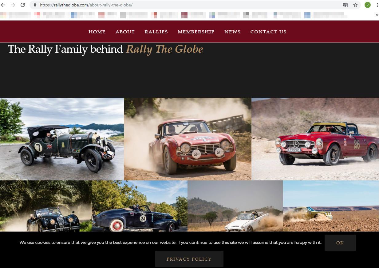 Скриншот с сайта ралли rallytheglobe.com