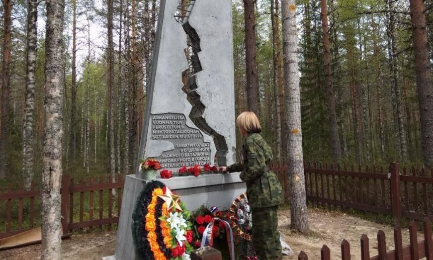 В Финляндии установили памятник погибшим бойцам архангельского лыжного батальона (Иллюстрация 1 из 1) (Фото: Российское военно-историческое общество)