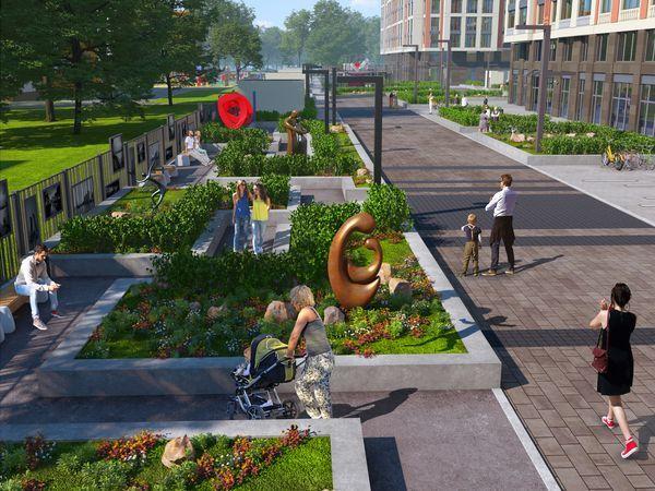 На месте трамвайного парка в Адмиралтейском районе появится ART-сквер