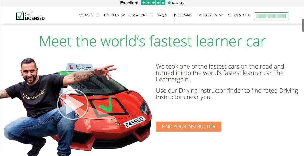 Скриншот с сайта школы Get Licensed
