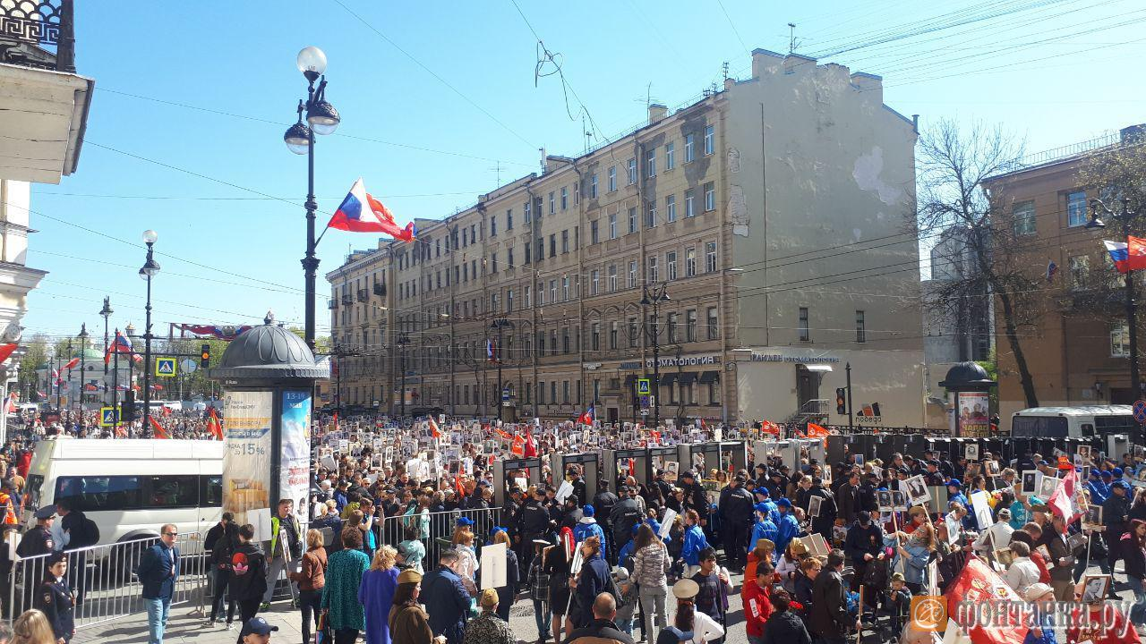 На площади Восстания готовится к началу шествия колонна «Бессмертного полка» (Иллюстрация 3 из 3) (Фото: