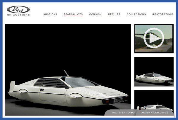 Скриншот с сайта RM Auctions