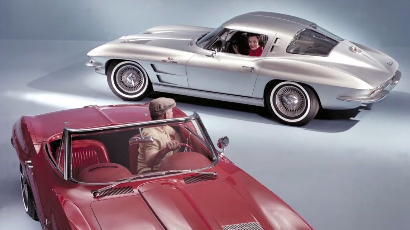 Кадр из видео в YouTube. Chevrolet Corvette