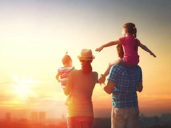 Семейный очаг для счастливой семьи
