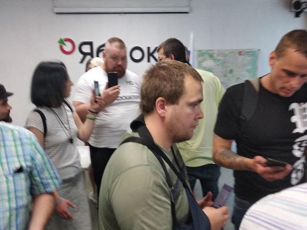 Конференцию партии «Яблоко» по выдвижению кандидата в губернаторы пытался сорвать Дацик. Его испугала полиция