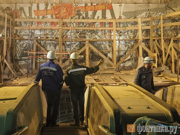 «Метрострой» показал, как выглядит «Проспект Славы» за полтора месяца до открытия