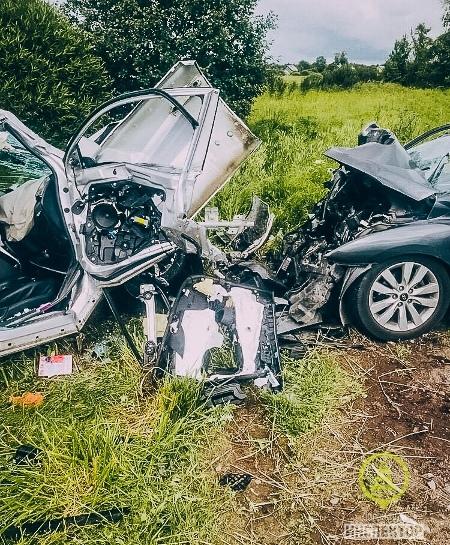 ДТП в Сланцевском районе Ленобласти 10 июля, в котором пострадали девять человек и один погиб. Фото «Дорожного инспектора»
