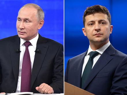 Коллаж/kremlin.ru/president.gov.ua