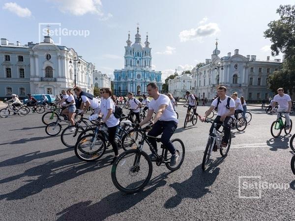 Setl Group принял участие в городском велопробеге ко дню строителей