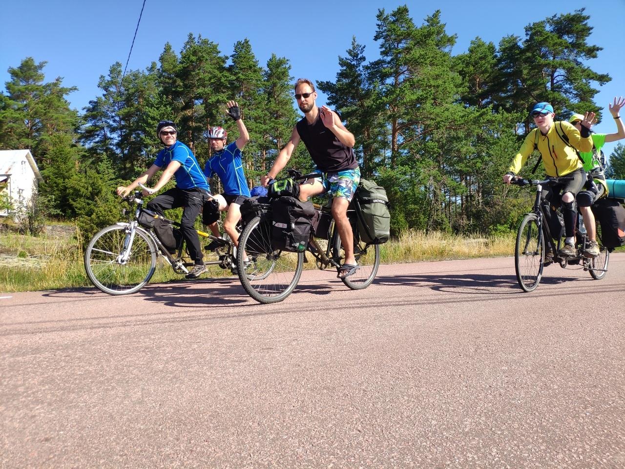 От Петербурга до Хельсинки через Аландские острова – слабовидящие спортсмены преодолели 410 км в ходе вело-водного пробега (Иллюстрация 1 из 1) (Фото: БФ