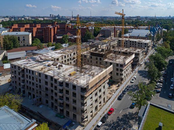 ЖК BOTANICA от Группы «Эталон» достиг уровня 5 этажей