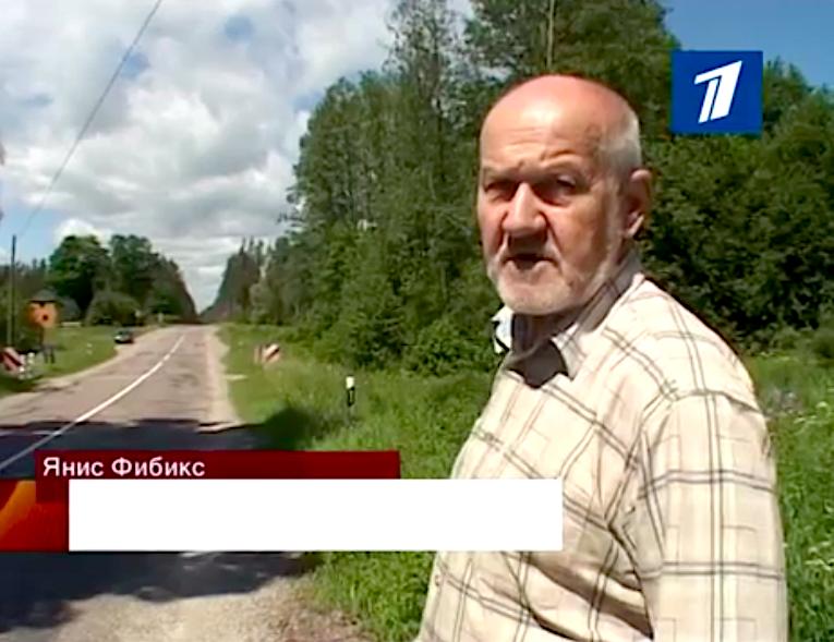 Янис Фибикс, стоп-кадр видеозаписи «Первого балтийского канала», 2010 год