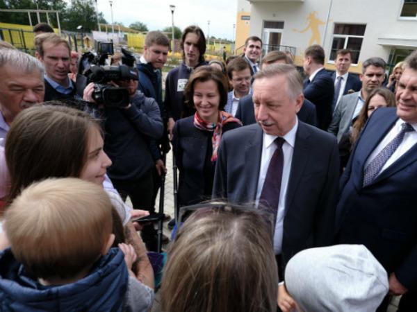 Александр Беглов посетил детский сад в квартале «Юттери»