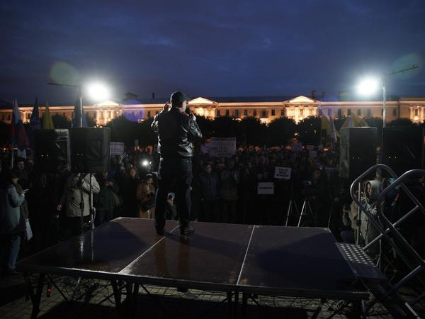 Организаторы: Митинг против фальсификации выборов в Петербурге собрал 500 человек