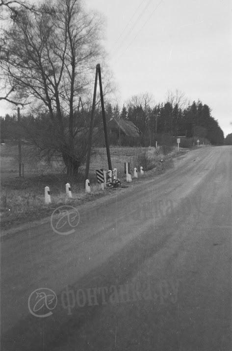 35-й километр дороги Слока - Талси, октябрь 1990 года. С тех пор тут мало что изменилось