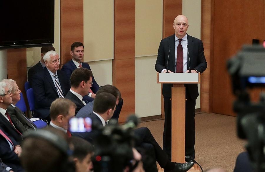 Антон Силуанов на собрании фракции «Единая Россия» в Госдуме 25 сентября 2019 года