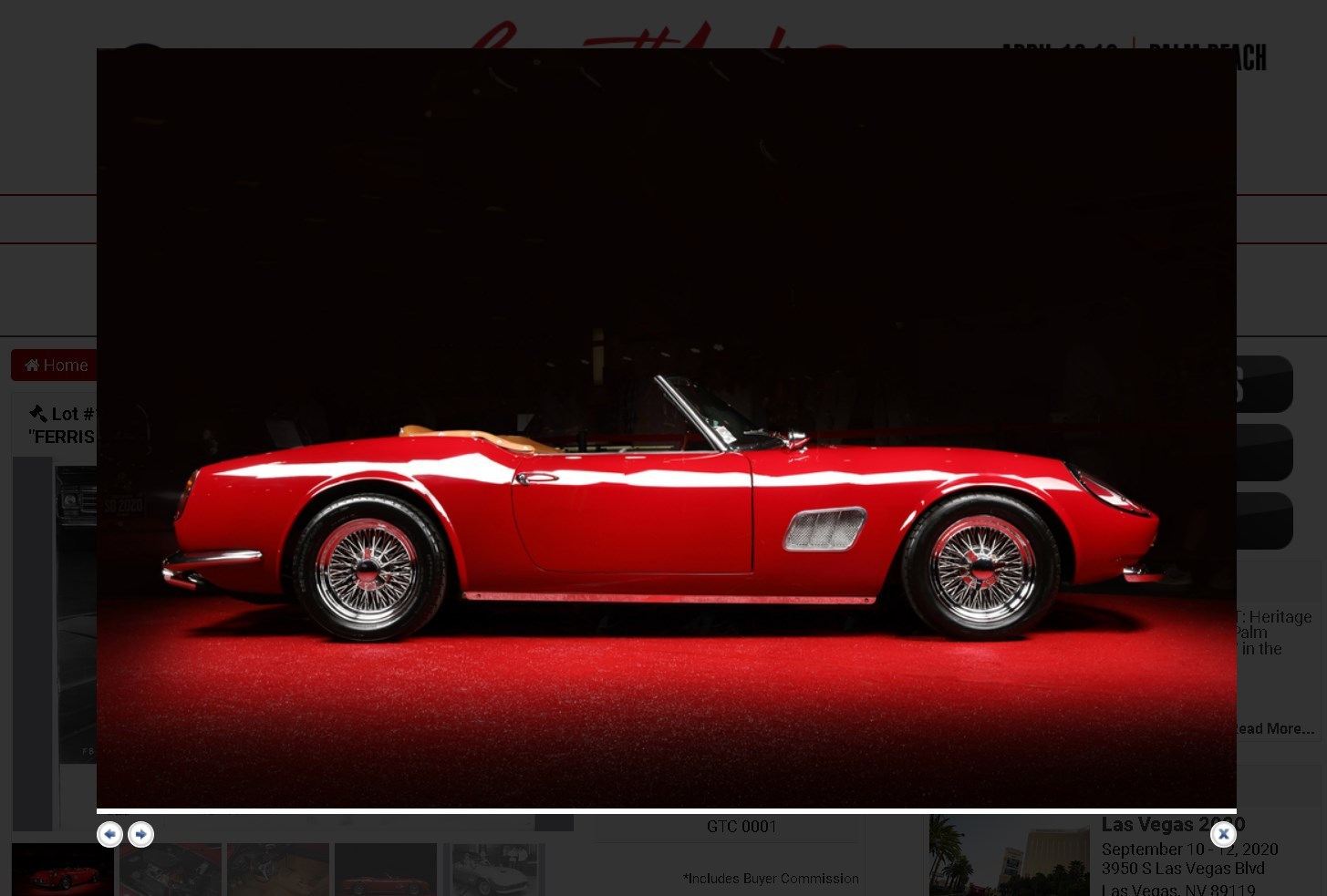 скриншот с сайта аукционого дома Barrett-Jackson
