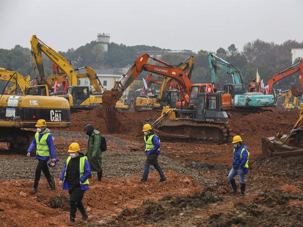 строительная площадка в пригороде Уханя//AP/TASS