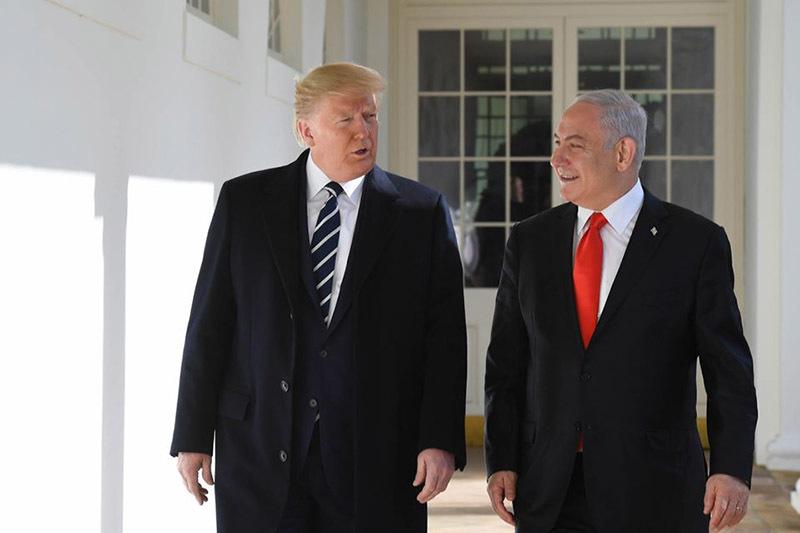 Трамп и Нетаньяху//официальная страница facebook.com/Netanyahu