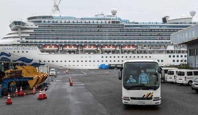 Ещё у двух россиян с карантинного лайнера в Японии нашли коронавирус – без «ярко выраженных симптомов»